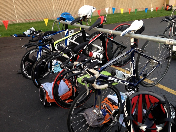 Racked Bikes