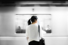 Woman by Train