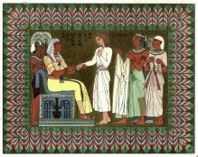 """Joseph and Pharaoh"" by Owen Jones - http://www.gallery.oldbookart.com/main.php?g2_itemId=30588. Licensed under Public Domain via Wikimedia Commons - https://goo.gl/zXvKtv"